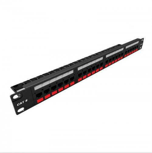 PATCH PANEL GIGALAN CAT6 24P CARREGADO